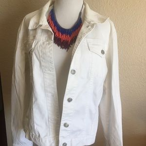 White Gap Denim Jacket